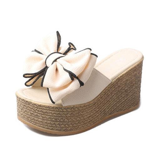 Luxury Peep Toes High Heel Sandals Sweet Cute Girl Butterfly-Knot Beach Slides
