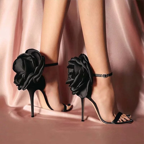 Butterfly Bow Stiletto High Heel Shoes Ankle Strap Shoes Size 35-40