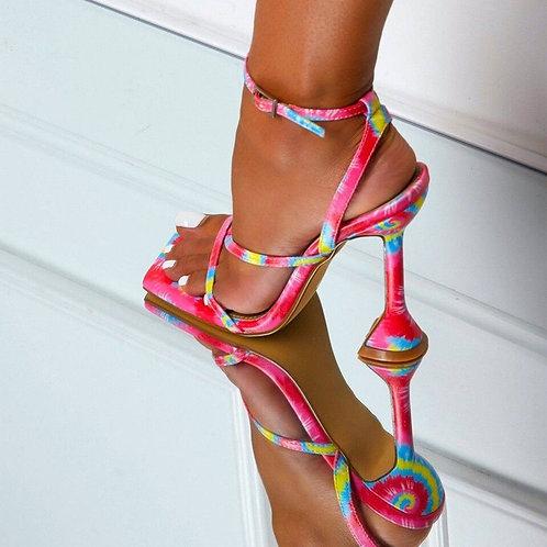 High Heels Bandage Buckle Strap Pumps Ladies   Stiletto