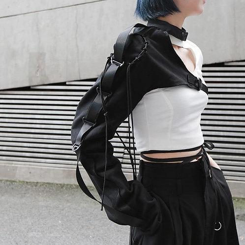 Reina One Sided Long Sleeve Cuff - Black