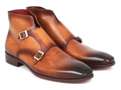 Paul Parkman Double Monkstrap Boots Brown (ID#8154-BRW)