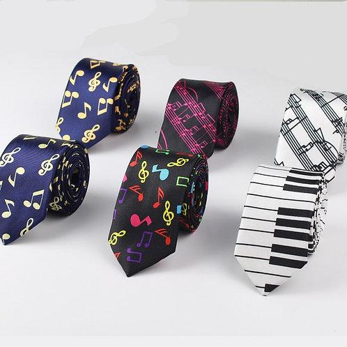 Neckties Festival Tie Soft Designer  Character Necktie Music Score Piano Guitar