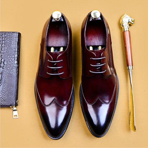 Italian Handmade 36 46  Genuine Leather Suit Shoes Wedding