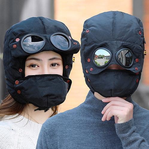 Warm Cap Men  for Women Kids Waterproof Hood Hat With Glasses Cool Balaclava