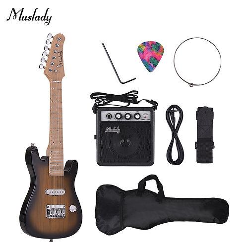 28 Inch Kid Children Electric  Maple Neck Mini Amp Guitar Pick String  Set