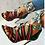 Thumbnail: Lace Up Sandals Mixed Colors Cross Strappy Stiletto