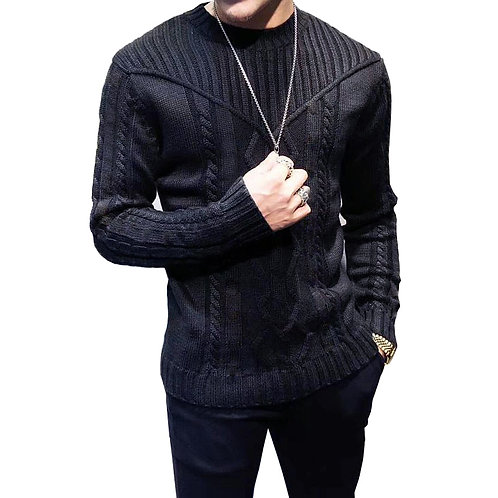 Casual Pullovers Knitted  Sweaters for Men  Long-Sleeved Sweater