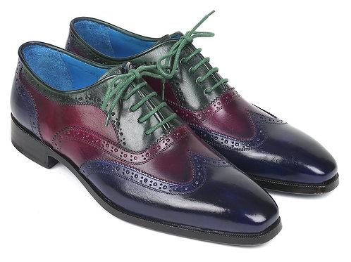Paul Parkman Men's Multi Color Wingtip Oxfords (ID#PP2284)