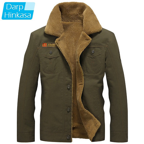 t Men Air Force Pilot Jacket Warm Men Fur Collar Men Army Tactical Fleece Jacket