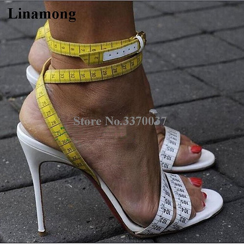 Ruler Cross High Heel S Ankle Straps Rulers