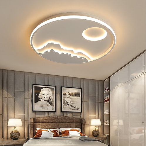 Round Dimmable Modern Led Ceiling  White Color RC Modern Led Ceiling Lamp