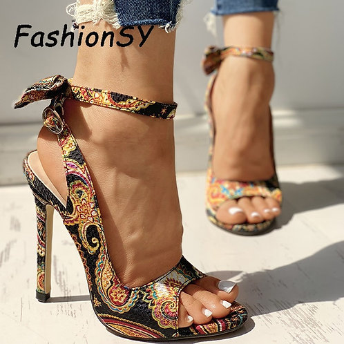 10CM Fish Mouth Bow  Cross-Tied Pumps Shoes