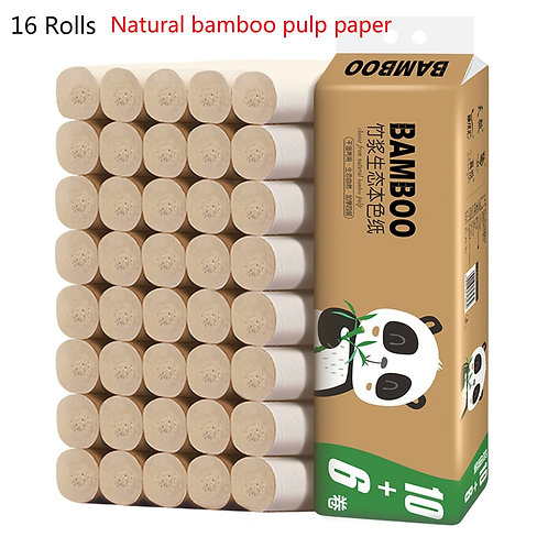 16 Rolls Bamboo 4 Layers Paper Fast Ship