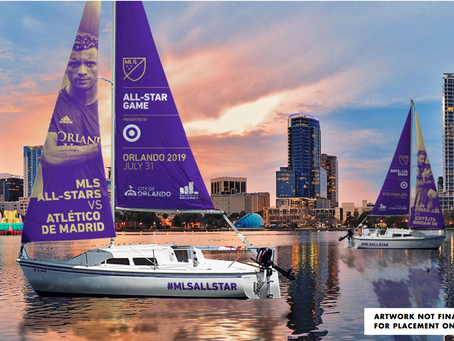 Two Sailboats Will Sail Around Lake Eola to Promote MLS All-Star Game