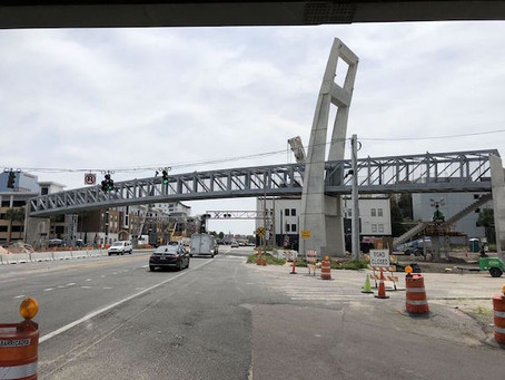 Downtown Bike Bridge Now Crosses Colonial - One Step Closer to Opening