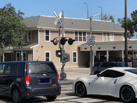 New Sensor Activated Signage at Colonial Drive Railroad Crossing