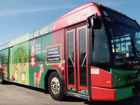 Christmas LYNX Bus Driven by Santa Makes Its Debut