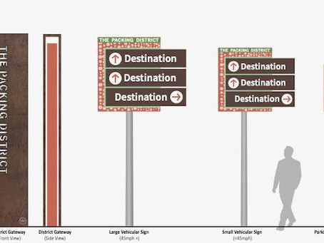 Here's What The Packing District's Wayfinding Signage Will Look Like