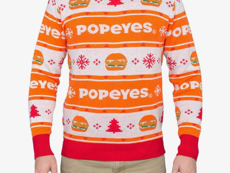 Popeyes Holiday Sweater Sold Out