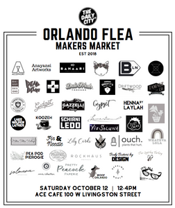 Orlando Flea makers market brings over 40 makers, artisans and graphic designers to downtown Orlando for 4 hours of local-loving shopping.