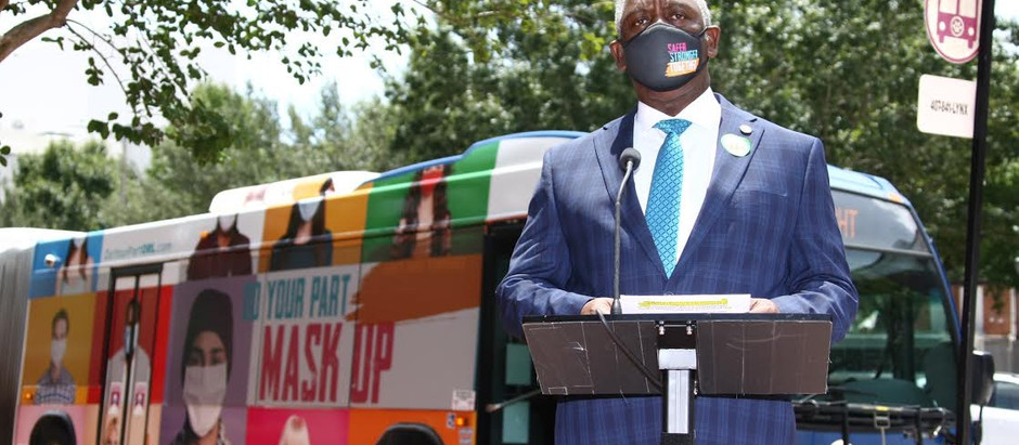 60 Foot Long Orlando Bus Asks Everyone to Do Their Part to Prevent the Spread of COVID-19