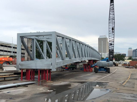Giant Bridge Portion of the Colonial Pedestrian Overpass Project Has Arrived