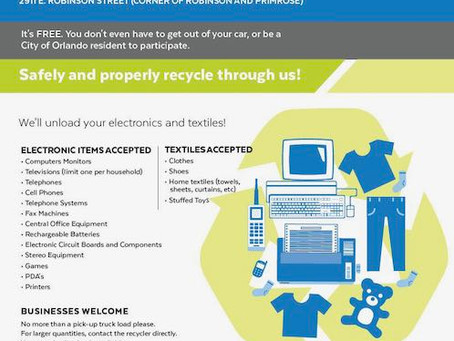 Electronic Waste & Textile Recycling Event