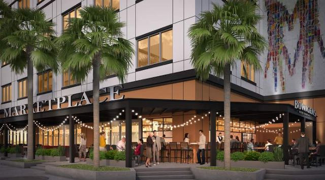 Orlando food hall Marketplace at Avalon will feature seven nine restaurants and a beer brewery.