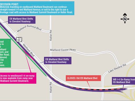 Eastbound Maitland Boulevard Shifting to Permanent Configuration
