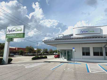 Soft Opening of Axiom Bank Winter Park branch is September 21