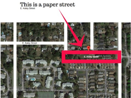 Orlando Has a Paper Street? What is That?