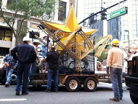 Jack Kazanzas Star Installation in Downtown Orlando Marks Start of Holiday Season
