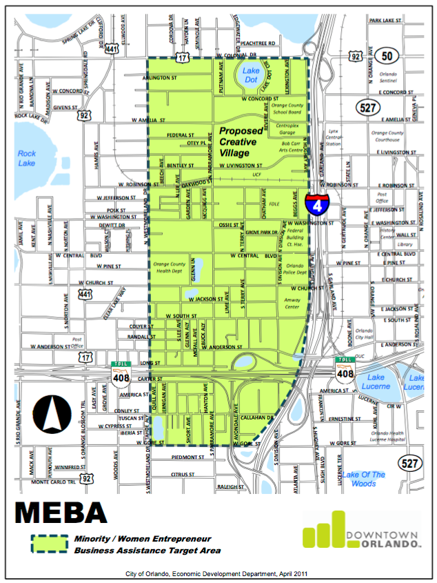 The Minority / Women Entrepreneur Business Assistance Target Area | Downtown Orlando