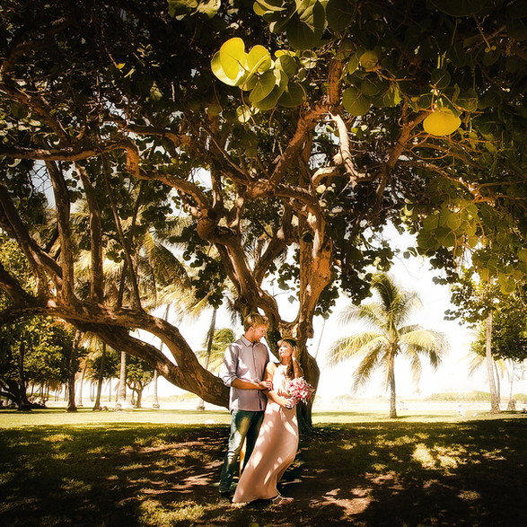 Engagement session in South Pointe Park Miami Beach