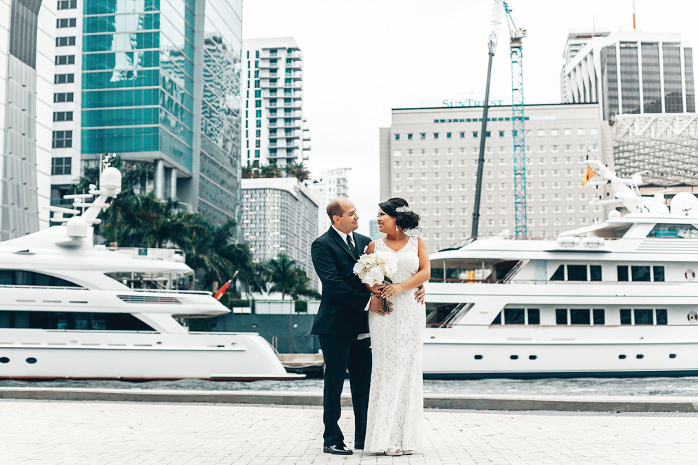 Wedding on the boat