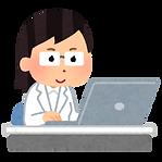 computer_hakui_doctor_woman.png