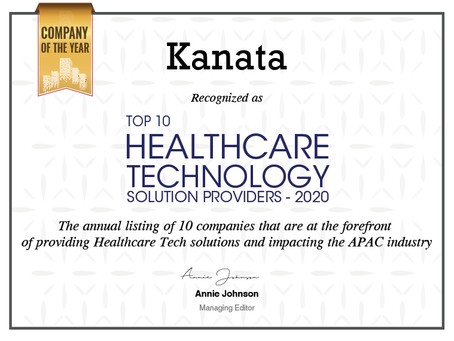 Healthcare Tech 2020 Company of the yearに選出!