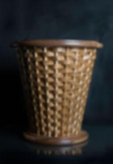 Walnut Waste Basket