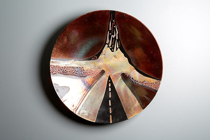 "Raku Plate - ""On The Road"""