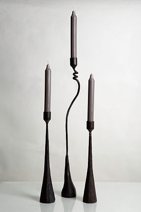 Iron Candle Sticks:  Cats & Jasmine (tall) and Zen Tribe