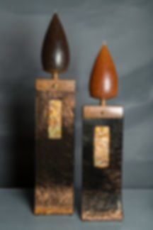 Mark Hines Candle Holders with Barrick Candles