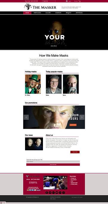 Silicone mask studio online store design