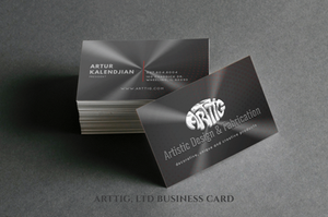 A business card is a small piece of paper that holds your contact information. It conveniently rounds up all of the essentials in one place, including your name, brand logo and contact details like your website, phone number, and social media handles.