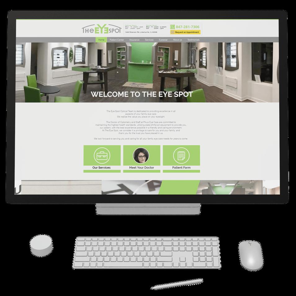 Family eye care center website