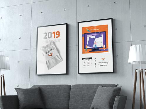 Art calendar for wall