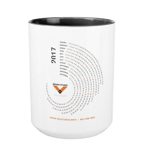 Black 15 oz Two-Tone Coffee Mug