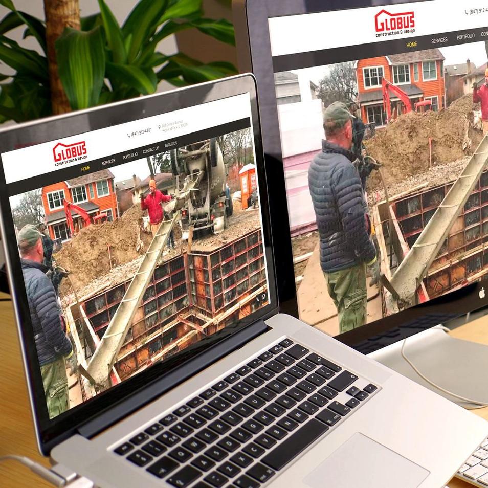 Globus construction company website
