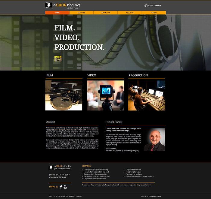 Video studio website