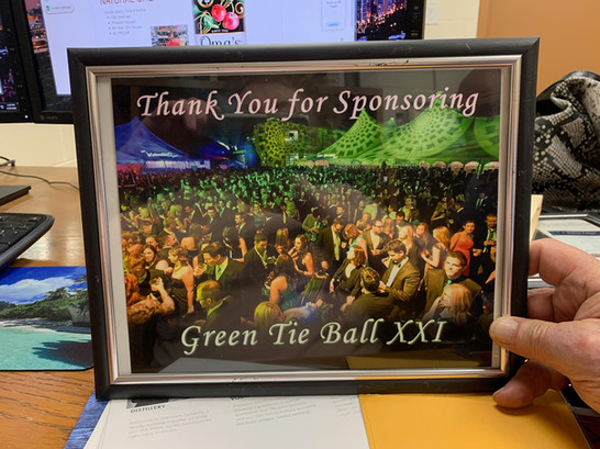We are the sponsor of Green Tie Ball XXI
