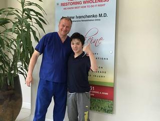 Our happy patient